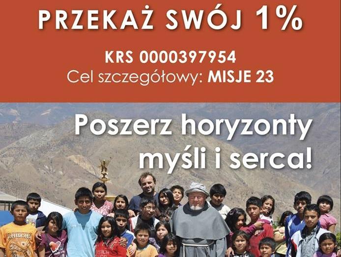 Przekaż 1% dla misji