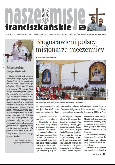 """biuletyn """"Nasze misje franciszkańskie"""""""