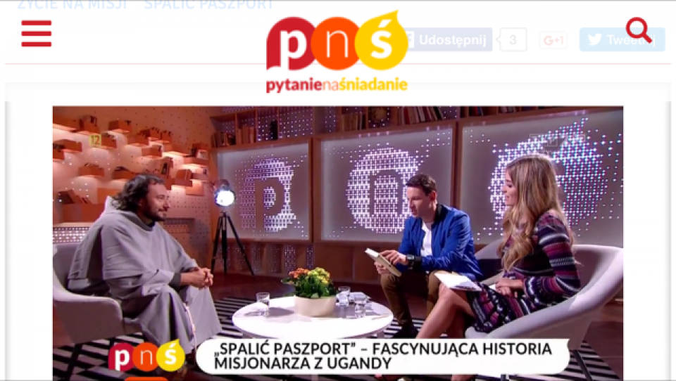 o. Bogusław Dąbrowski w TVP2