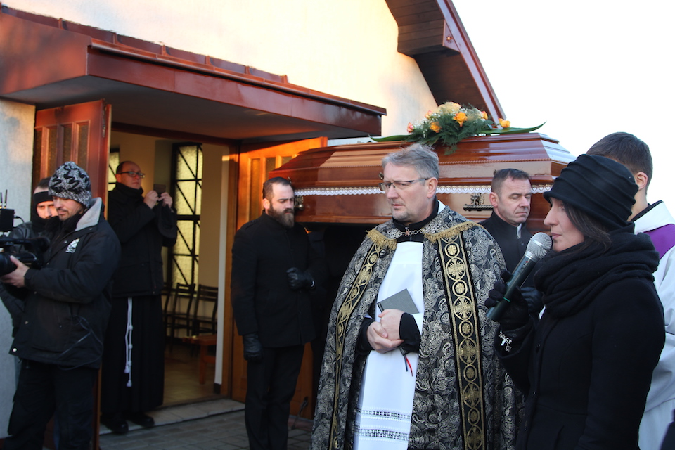 O. Prowincjał przewodniczył obrzędowi pogrzebu