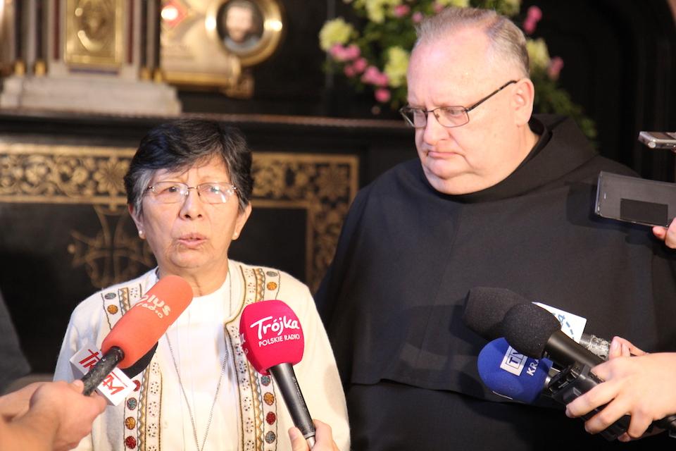 s. Berta Hernandez spotkała się z dziennikarzami