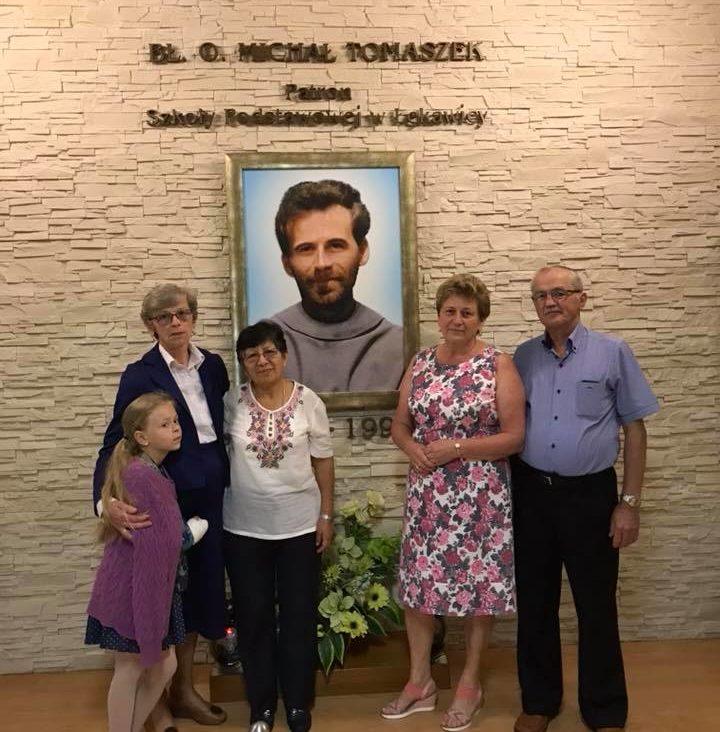 S. Berta w szkole im. bł. Michała w Łękawicy