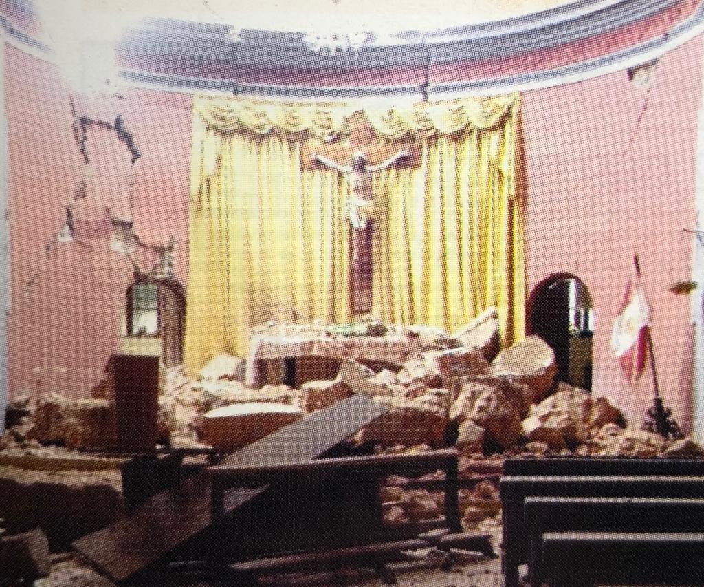 kościół po trzęsieniu ziemi